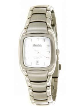 Ρολόι γυναικείο με λευκό καντράν ανοξείδωτο μπρασελέ από ατσάλι