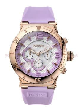 Ρολόϊ BREEZE High Fidelity Chrono Light Purple Rubber Strap 110111_10