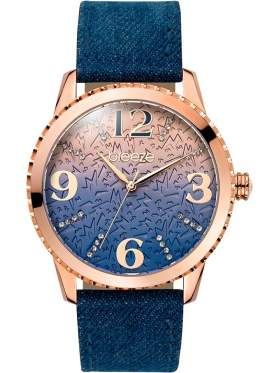 BREEZE Jeanious Swarovski Blue Combined Materials Strap-110761.3