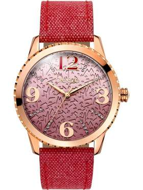 BREEZE Jeanious Swarovski Red Combined Materials Strap-110761.7
