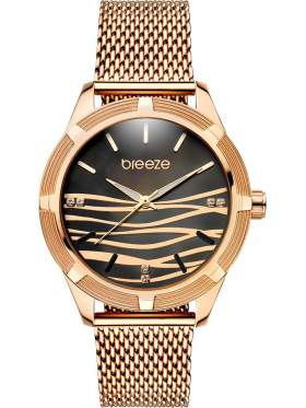 BREEZE Felicity Crystals Rose Gold Stainless Steel Bracelet-210651.2