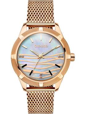 BREEZE Felicity Crystals Rose Gold Stainless Steel Bracelet-210651.5