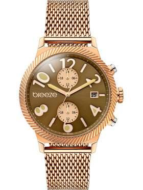 BREEZE Bellatrix Multifunction Rose Gold Stainless Steel Bracelet 210681.1