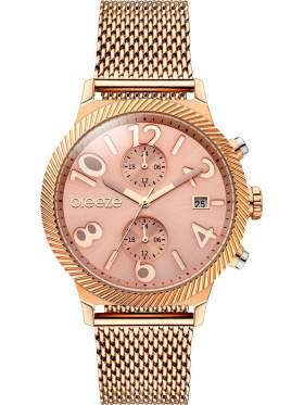 BREEZE Bellatrix Multifunction Rose Gold Stainless Steel Bracelet 210681.4