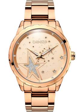 BREEZE Starstruk Crystals Rose Gold Stainless Steel Bracelet-210791.4