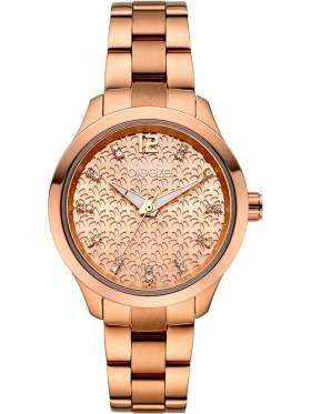 BREEZE Amorelle Crystals Rose Gold Stainless Steel Bracelet