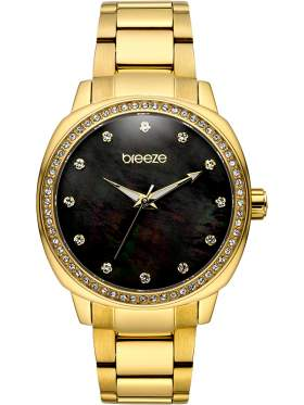 BREEZE Glamcy Crystals Gold Stainless Steel Bracelet