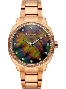 BREEZE Glamcy Crystals Rose Gold Stainless Steel Bracelet