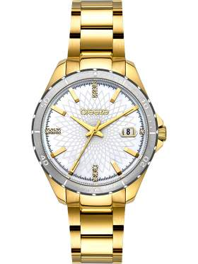 BREEZE MantaRay Crystals Gold Stainless Steel Bracelet