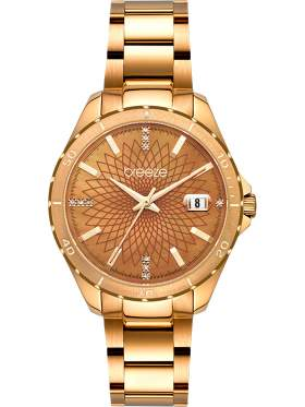 BREEZE MantaRay Crystals Rose Gold Stainless Steel Bracelet