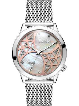 BREEZE Chatoyant Swarovski Silver Stainless Steel Bracelet-610821.1