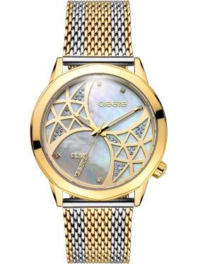 BREEZE Chatoyant Swarovski Two Tone Stainless Steel Bracelet-710821.2