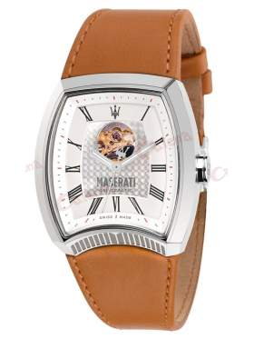 MASERATI Calandra Automatic Brown Leather Strap R8821105001