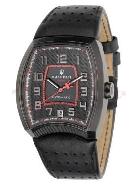 MASERATI Calandra Automatic Black Leather Strap R8821105002