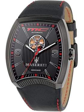 MASERATI Automatic Black Leather Strap  MASERATI Automatic Black Leather Strap -  R8821105003