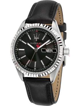 MASERATI Competizione Black Leather Strap R8851100001