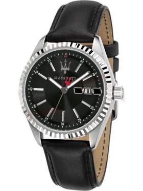 MASERATI Competizione Black Leather Strap R8851100001