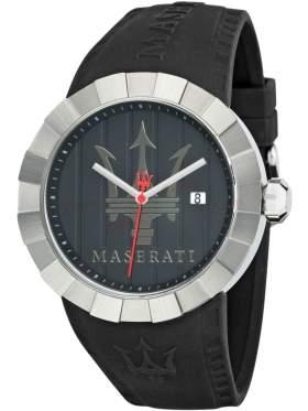 MASERATI Tridente Black Rubber Strap R8851103002