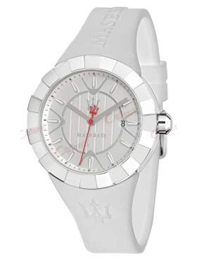 MASERATI Tridente Ladies White Rubber Strap R8851103503