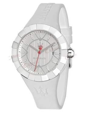 MASERATI Tridente Ladies White Rubber Strap R8851103503