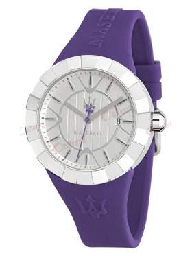 MASERATI Tridente Ladies Purple Rubber Strap R8851103504