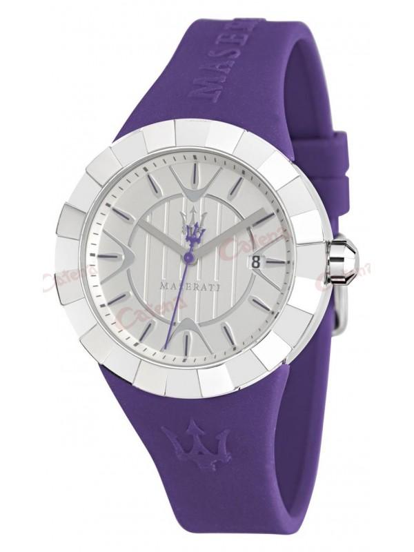 MASERATI Tridente Ladies Purple Rubber Strap R8851103504 71479098b71