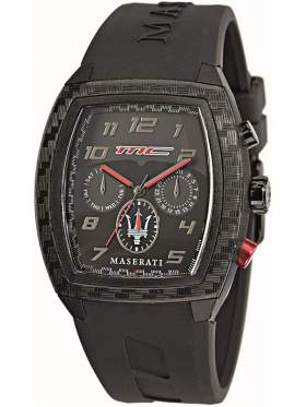 Maserati Passione Multifaction Black Rubber Strap R8851104026