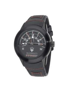 Maserati Corsa Black Leather Strap R8851110002