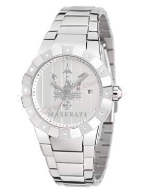 MASERATI Tridente Crystal Ladies Stainless Steel Bracelet R8853103501