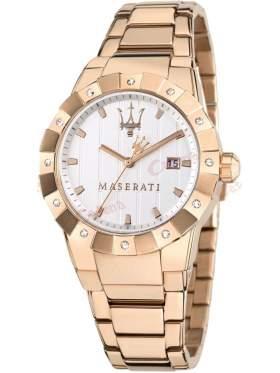 MASERATI Tridente Crystal Ladies Rose Gold Stainless Steel   R8853103503