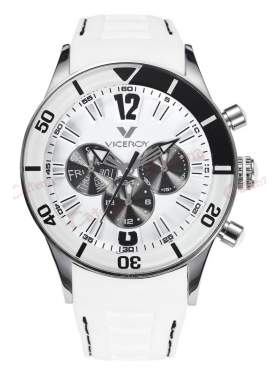 VICEROY Multifunction White Rubber Strap 42110-05