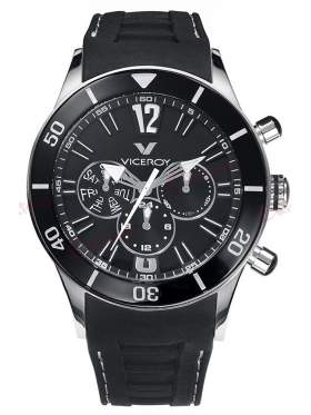 VICEROY Multifunction Black Rubber Strap 42110-55