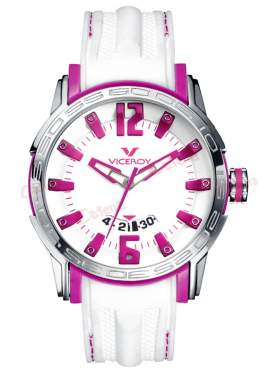 VICEROY Date White Rubber Strap 42117-75