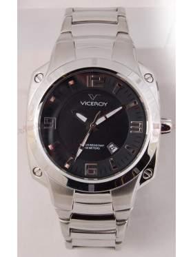 VICEROY Black Dial Stainless Steel Bracelet 432035-55