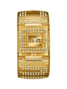 Ρολόι γυναικείο με άσπρες πέτρες ζιργκόν-W17518L2