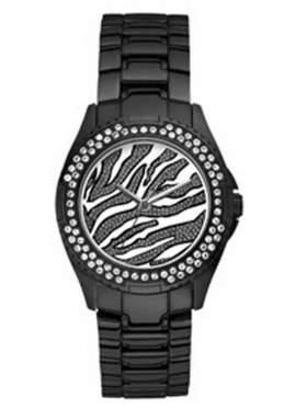 GUESS Crystal Black Stainless Steel Bracelet