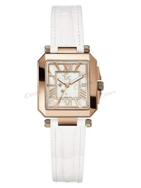 GUESS Collection White Leather Strap A52003L1