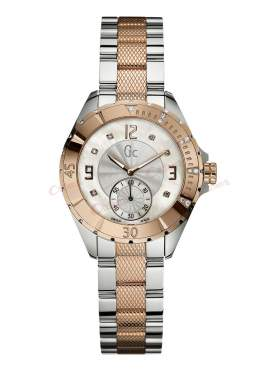 Guess Collection Two-Tone Stainless Steel Crystal Ladies  A70102L1