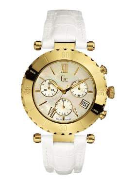 Guess Collection Chronograph White Leather Ladies  I34501L1