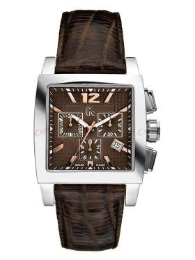 GUESS Collection Chronograph Brown Leather Strap I35005G3