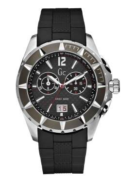 Guess Collection Gents Black Rubber Strap Chronograph  I35006G1