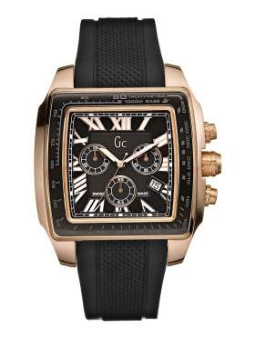 GUESS Collection Gents Black Rubber Strap Chronograph I35503G1