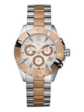 GUESS Collection Two-Tone Stainless Steel Chronograph  I47006M1