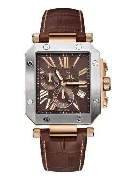 GUESS Collection Brown Leather Strap Chronograph  I50001G1