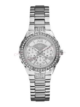 GUESS Vivacious Crystal Stainless Steel Bracelet W0111L1
