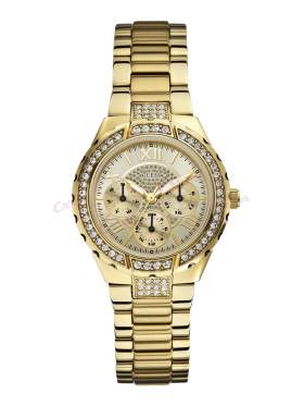 GUESS Vivacious Crystal Gold Stainless Steel Bracelet W0111L2