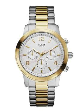 GUESS Chronograph Two-Tone Stainless Steel Bracelet W0123G2