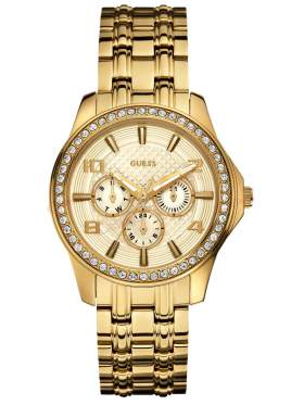 GUESS Multifunction Crystal Gold Stainless Steel Bracelet W0147L2