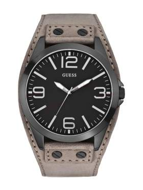 GUESS Light Brown Leather Strap W0181G3