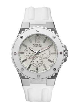 GUESS Overdrive White Rubber Strap W10603G1